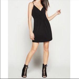 NWOT!! Black BCBG Faux Wrap Dress